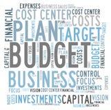 Control de presupuesto Fotos de archivo libres de regalías