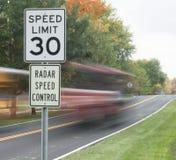Control de velocidad Imagen de archivo