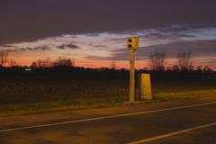 Control de velocidad en la noche Fotos de archivo