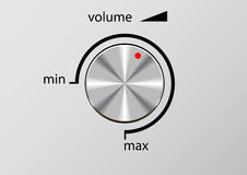 Control de volumen. Fotos de archivo
