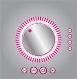 Control de volumen del mezclador del vector Fotografía de archivo libre de regalías