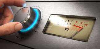 Control de volumen, problema de la audición fotografía de archivo libre de regalías
