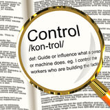 Control Definition Magnifier Royalty Free Stock Photography