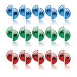 Control del botón, color Imágenes de archivo libres de regalías