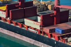 Control del buque de carga Fotos de archivo libres de regalías