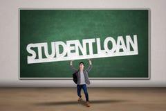 Control del estudiante una muestra del préstamo del estudiante Imágenes de archivo libres de regalías