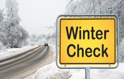 Control del invierno Imágenes de archivo libres de regalías