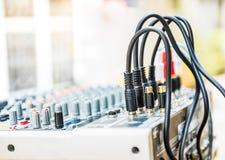 Control del mezclador de sonidos Imagenes de archivo