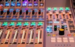 Control del mezclador de sonidos Fotografía de archivo