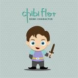 Control del muchacho un lika de la espada un romeo Imagen de archivo libre de regalías