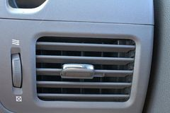 Control del sistema de calefacción interior del coche Vista interior del interior del coche Foto de archivo libre de regalías