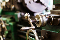 Control device of old turning machine Royalty Free Stock Photo