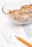 Control diario del producto de la nutrición Fotos de archivo libres de regalías