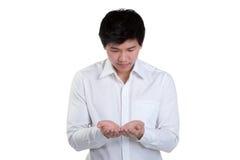 Control elegante atractivo del hombre de negocios Foto de archivo libre de regalías