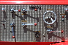The Control equipment of fire truck Stock Image