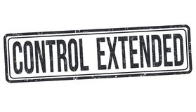 Control extended sign or stamp royalty free stock photos