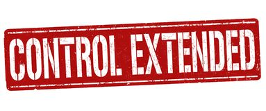 Control extended sign or stamp royalty free stock image