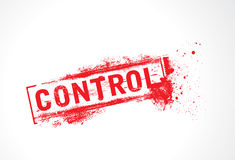 Control grunge text Royalty Free Stock Photo