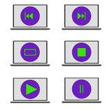 Control icon player. Raster Royalty Free Stock Images