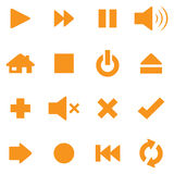 Control Icons. Individually grouped simple control icons. Symbols can be reflected and rotated Royalty Free Stock Photos