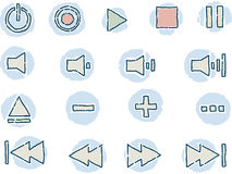 Control Icons Stock Photo