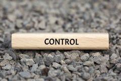 CONTROL - imagen con las palabras asociadas al MONOPOLIO del tema, nube de la palabra, cubo, letra, imagen, ejemplo Foto de archivo libre de regalías