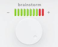 Control Knob with Brainstorm Progress Scale Royalty Free Stock Images