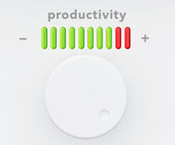 Control Knob with Productivity Progress Scale Stock Photo