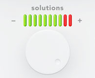 Control Knob with Solutions Progress Scale Stock Images