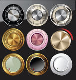 Control knobs in different colors Stock Photography