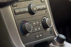 Control Knobs of an Executive Car stock image