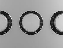 Control knobs Stock Photo