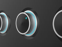Control knobs Stock Images