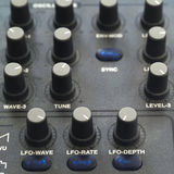 Control Knobs Of Synthesizer Stock Images