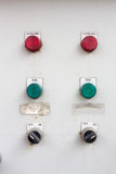 Electric control box. Control the lights with the red, green Stock Image