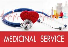 Control médico, servicio medicinal Fotos de archivo