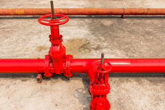 Control main valve for industrial plant. Royalty Free Stock Photography