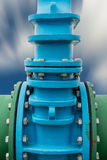 Control main valve, Water control main valve, Pipeline distribut Stock Photo