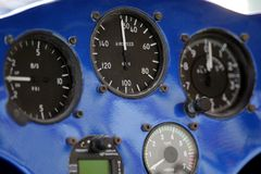 Control panel. Of a motorized hang glider Stock Photography