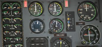 Control panel. The control panel of a helicopter Royalty Free Stock Images
