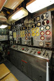 Control Panel. Retro control panel inside of a submarine Royalty Free Stock Image