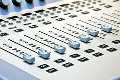 Control Panel. In a studio Royalty Free Stock Photo