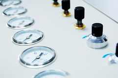 Control panel. Closeup for producing assembly line Royalty Free Stock Images