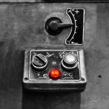 Control panel. Close up of an old typographic machine's control panel Royalty Free Stock Images