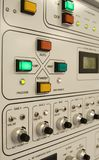 Control Panel. Of a clean-room equipment stock photos