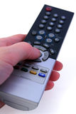 Control panel. Choice of the channel of TV by means of a control panel Royalty Free Stock Photography