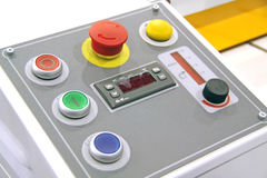 Control panel. With red button Stock Image