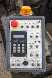 Control panel of asphalt paving machine Stock Photography