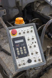 Control panel of asphalt paving machine 2 Royalty Free Stock Image