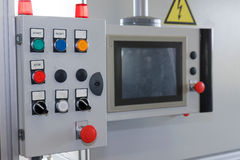Control panel of assembly line Royalty Free Stock Image